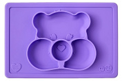 ezpz Care Bears Mat - One-piece silicone placemat + plate
