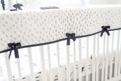 My Baby Sam Little Bear Crib Rail Cover, Black
