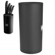 Uarter Round Knife Holder Creative Knife Block Functional Knife Storage Stand with Round Space, Ideal for Knife Holding, Black