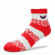 For Bare Feet NHL RMC Pro Stripe Fuzzy Sleep Soft Sock -Size-Medium