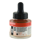 Royal Talens Amsterdam Acrylic Ink, 30ml Bottle with Dropper, Naples Yellow Red