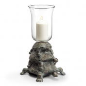 Whimsical Turtle Hurricane Candle Holder