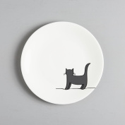 Standing Cat Side Plate, Fine Bone China, Gift for Cat Lover