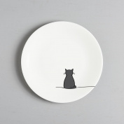 Sitting Cat Side Plate, Fine Bone China, Gift for Cat Lover