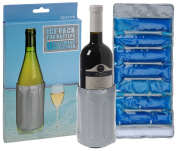 Ice Pack Wrap Cooling Element For Bottles