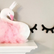 Saihui Crown Swan Children Pillow Room Decoration Toys Dolls Photography Props