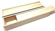 Brush box Pencil box made of natural wood