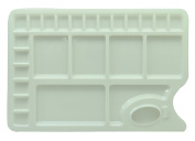 AACEE 23 Well Watercolour Paint Tray Mixing Palette White With ThumB Hole