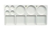 JAS : Palette Plastic : medium rectangle 32cm x 15cm .