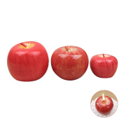 Christmas Apple Candle, 3 Different Sizes Christmas' Eve Gift Emulational Apple Shaped Candles Christmas Party Decoration By Rely2016