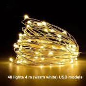 LED String Light Multi-Purpose Copper String Light Manual USB Connector Decorative Lights for Bedroom Parties Wedding Easy Installation