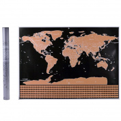 Uarter Scratchable Map World Laminated Poster Travel Tracker Poster, Perfect Gift to Families and Friends