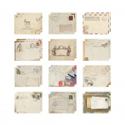 RainBabe Beige Mini Paper Envelope for DIY Scrapbooking 12pcs