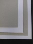 9 x A4 Grey & White board Craft Card 2000mic 2mm