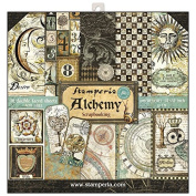 stamperia Double-Sided Scrapbooking Paper – Assortment, 25cm – 170 g/m²