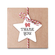 JuneJour 50Pcs Christmas Gift Tags Printing Label Hanging Tag for Wedding Birthday Favour Party Thank You