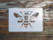 Large Bee Stencil approx 135mm x 90mm Washable and Reusable