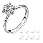 Invisible Ring Size Adjuster for Loose Rings Ring Adjuster Fit Womens Rings with Jewellery Polishing Cloth