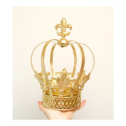Big Gold Metal Crown, 32cm tall, next day shipping