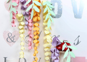 PAPER JAZZ DIY Hanging Paper Wisteria Flower Garland Easter Wedding Nursery Spring Birthday Party home store Decoration