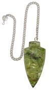 Harmonise Peridot Stone Tear Drop Orgone Pendulum Reiki Healing Crystal Energy Genrator Beginner Dowsing