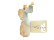Enesco Foundations Bereavement Angel Stone Resin Figurine, An Ideal Sympathy-Condolence Gifts For Loss Of Mother/Father/Loved One