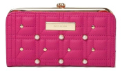 River Island Pink Pearl Quilted Clip Top Purse