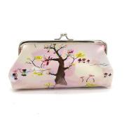 Women Lady Animal Print Retro Vintage Leather Small Wallet Cute Girl Long Hasp Purse Clutch Bag