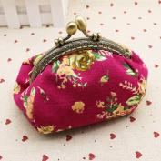 Clearance Coin Purse,Colourful Retro Vintage Flower Small Wallet Mini Hasp Purse Clutch Bag