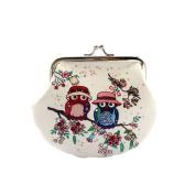Owl Purse, Women Lady Girls Retro Vintage Mini Wallet Clutch Bag PU Leather Small Wallet Hasp Purse ID Card Coin Clutch Bag Handbag