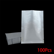 MuLuo 100PCS Silver Aluminium Foil Mylar Bag Vacuum Sealer Safety Food Storage Package