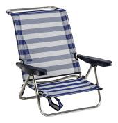 Alco 1 – 607 Chair Bed Beach Aluminium fibreline Colour 56