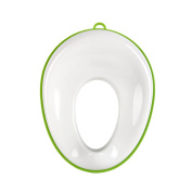 Pretty See Toilet Training Seat Oval Potty Ring Smooth Toilet Seat for Toddlers,Green
