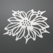 Ultimate Crafts Poinsettia Flower Decorative Die, Metal, Black, 22.8 x 10 x 0.7 cm