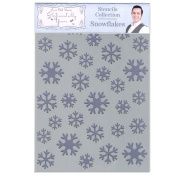 Phill Martin Sentimentally Yours Festive Collection A5 Stencil - Snowflakes