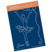 Clarity Stamps Groovi Parchment Embossing A6 - Grace Dancer