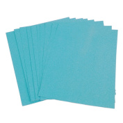 JuneJour 10Pcs A4 Glitter Paper Card for Home Office Party Decoration Making Decorations DIY Christmas Supplies Art Scrapbooking Light Blue