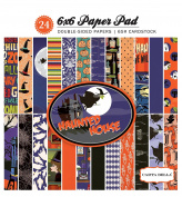 Carta Bella Double-Sided Paper Pad 15cm x 15cm 24/Pkg-Haunted House, 12 Designs/2 Each