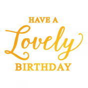 Ultimate Crafts Lovely Birthday Hotfoil Stamp, Metal, Grey, 22.8 x 9.8 x 0.7 cm