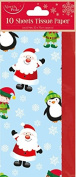 Christmas Tissue Paper Santa Elf 10 Sheets Gift Wrap Wrapping Cute Present Pack