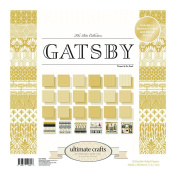 Ultimate Crafts 30cm x 30cm Scrapbooking Paper and Foiled Die-cuts GATSBY Art Deco 24 sheets