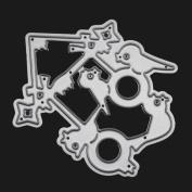Transer® Metal Cutting Dies- Merry Christmas DIY Scrapbooking Xmas Decor Embossing Album Paper Card Craft Die Tool