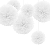 Cheap4uk There Size Tissue Paper Pom Poms Flower Balls for Wedding Birthday Party Shower Centrepiece Home Decoration-20cm ,25cm and 38cm