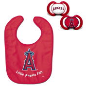 Official MLB Fan Shop Authentic Baby Pacifier and Bib Set. Start the Little Ones Out Early in Joining the Number One Major League Baseball Fans