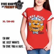 Five Nights At Freddy's FREE HUGS Tshirt - Ladies' Sz XL
