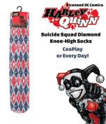 HARLEY QUINN S SQUAD DIAMOND KNEE-HIGH SOCKS (OSFA) Ladies/Teens