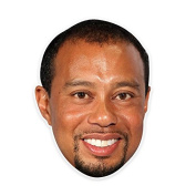 Cool Tiger Woods Mask, Perfect for Halloween, Masquerades, Parties, Festivals, Concerts - Jumbo Size Waterproof