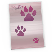 CraftStar Cat Paw Print Stencil - Set of 3 Sizes of Cat Paw Print Stencil Templates