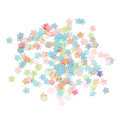The Bead and Button Box - 10g of Tiny Flower Sequins, confetti 3mm. Mixed Colours, Ideal for Card Making, shaker Cards, Decoration and other projects and Crafts.