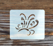 Fancy Butterfly Festival Face Painting Stencil 7cm x 6cm 190micron Washable